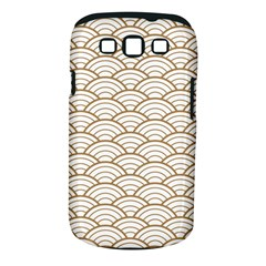 Gold,white,art Deco,vintage,shell Pattern,asian Pattern,elegant,chic,beautiful Samsung Galaxy S Iii Classic Hardshell Case (pc+silicone)