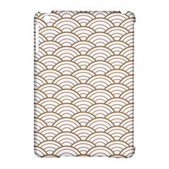 Gold,white,art Deco,vintage,shell Pattern,asian Pattern,elegant,chic,beautiful Apple Ipad Mini Hardshell Case (compatible With Smart Cover)
