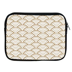 Gold,white,art Deco,vintage,shell Pattern,asian Pattern,elegant,chic,beautiful Apple Ipad 2/3/4 Zipper Cases