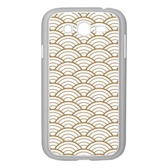 Gold,white,art Deco,vintage,shell Pattern,asian Pattern,elegant,chic,beautiful Samsung Galaxy Grand Duos I9082 Case (white)