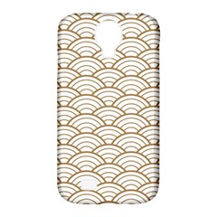 Gold,white,art Deco,vintage,shell Pattern,asian Pattern,elegant,chic,beautiful Samsung Galaxy S4 Classic Hardshell Case (pc+silicone)