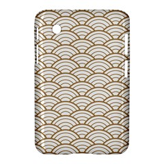 Gold,white,art Deco,vintage,shell Pattern,asian Pattern,elegant,chic,beautiful Samsung Galaxy Tab 2 (7 ) P3100 Hardshell Case
