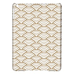 Gold,white,art Deco,vintage,shell Pattern,asian Pattern,elegant,chic,beautiful Ipad Air Hardshell Cases