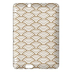 Gold,white,art Deco,vintage,shell Pattern,asian Pattern,elegant,chic,beautiful Kindle Fire Hdx Hardshell Case