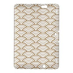 Gold,white,art Deco,vintage,shell Pattern,asian Pattern,elegant,chic,beautiful Kindle Fire Hdx 8 9  Hardshell Case