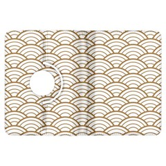 Gold,white,art Deco,vintage,shell Pattern,asian Pattern,elegant,chic,beautiful Kindle Fire Hdx Flip 360 Case