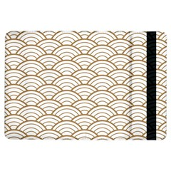 Gold,white,art Deco,vintage,shell Pattern,asian Pattern,elegant,chic,beautiful Ipad Air Flip