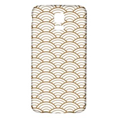 Gold,white,art Deco,vintage,shell Pattern,asian Pattern,elegant,chic,beautiful Samsung Galaxy S5 Back Case (white)