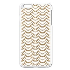 Gold,white,art Deco,vintage,shell Pattern,asian Pattern,elegant,chic,beautiful Apple Iphone 6 Plus/6s Plus Enamel White Case