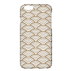 Gold,white,art Deco,vintage,shell Pattern,asian Pattern,elegant,chic,beautiful Apple Iphone 6 Plus/6s Plus Hardshell Case
