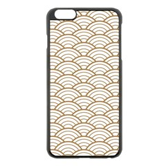 Gold,white,art Deco,vintage,shell Pattern,asian Pattern,elegant,chic,beautiful Apple Iphone 6 Plus/6s Plus Black Enamel Case