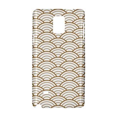 Gold,white,art Deco,vintage,shell Pattern,asian Pattern,elegant,chic,beautiful Samsung Galaxy Note 4 Hardshell Case