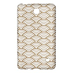Gold,white,art Deco,vintage,shell Pattern,asian Pattern,elegant,chic,beautiful Samsung Galaxy Tab 4 (7 ) Hardshell Case