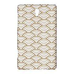 Gold,white,art Deco,vintage,shell Pattern,asian Pattern,elegant,chic,beautiful Samsung Galaxy Tab S (8 4 ) Hardshell Case