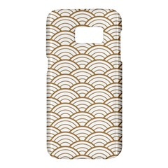 Gold,white,art Deco,vintage,shell Pattern,asian Pattern,elegant,chic,beautiful Samsung Galaxy S7 Hardshell Case