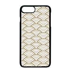 Gold,white,art Deco,vintage,shell Pattern,asian Pattern,elegant,chic,beautiful Apple Iphone 7 Plus Seamless Case (black)
