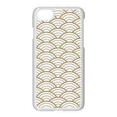 Gold,white,art Deco,vintage,shell Pattern,asian Pattern,elegant,chic,beautiful Apple Iphone 7 Seamless Case (white)