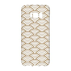 Gold,white,art Deco,vintage,shell Pattern,asian Pattern,elegant,chic,beautiful Samsung Galaxy S8 Hardshell Case