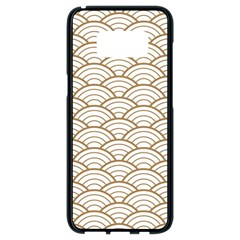 Gold,white,art Deco,vintage,shell Pattern,asian Pattern,elegant,chic,beautiful Samsung Galaxy S8 Black Seamless Case