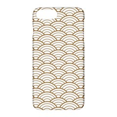 Gold,white,art Deco,vintage,shell Pattern,asian Pattern,elegant,chic,beautiful Apple Iphone 8 Plus Hardshell Case