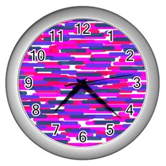Fast Capsules 6 Wall Clocks (silver)