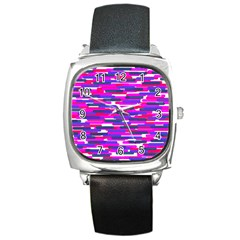 Fast Capsules 6 Square Metal Watch
