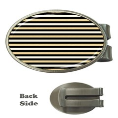 Black And Gold Stripes Money Clips (oval)