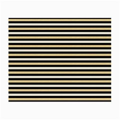 Black And Gold Stripes Small Glasses Cloth