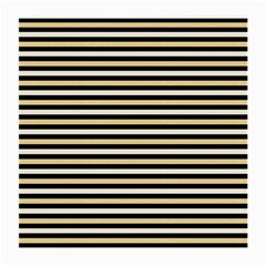 Black And Gold Stripes Medium Glasses Cloth (2 Side)
