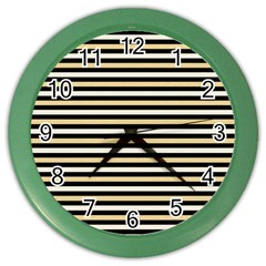 Black And Gold Stripes Color Wall Clocks