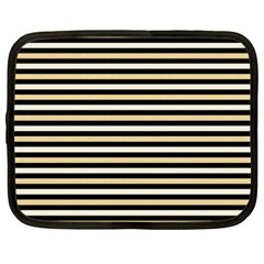 Black And Gold Stripes Netbook Case (xxl)