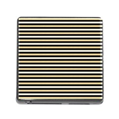 Black And Gold Stripes Memory Card Reader (square)