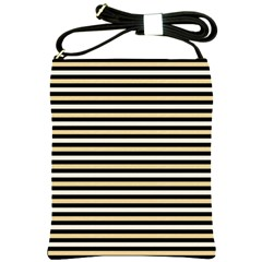Black And Gold Stripes Shoulder Sling Bags
