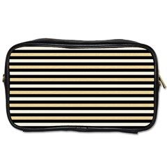 Black And Gold Stripes Toiletries Bags