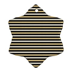 Black And Gold Stripes Ornament (snowflake)
