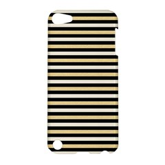 Black And Gold Stripes Apple Ipod Touch 5 Hardshell Case