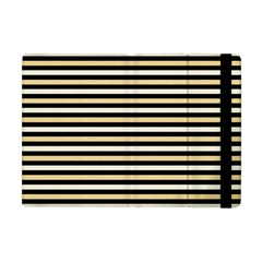 Black And Gold Stripes Apple Ipad Mini Flip Case