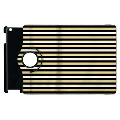 Black And Gold Stripes Apple Ipad 3/4 Flip 360 Case