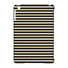 Black And Gold Stripes Apple Ipad Mini Hardshell Case (compatible With Smart Cover)