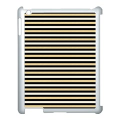 Black And Gold Stripes Apple Ipad 3/4 Case (white)