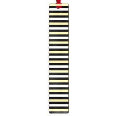 Black And Gold Stripes Large Book Marks