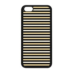 Black And Gold Stripes Apple Iphone 5c Seamless Case (black)