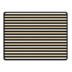 Black And Gold Stripes Double Sided Fleece Blanket (small)