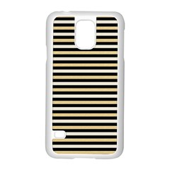 Black And Gold Stripes Samsung Galaxy S5 Case (white)