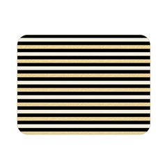 Black And Gold Stripes Double Sided Flano Blanket (mini)