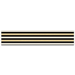 Black And Gold Stripes Small Flano Scarf