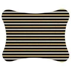 Black And Gold Stripes Jigsaw Puzzle Photo Stand (bow)