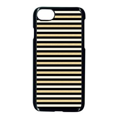 Black And Gold Stripes Apple Iphone 7 Seamless Case (black)