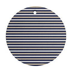 Royal Gold Classic Stripes Ornament (round)