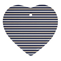 Royal Gold Classic Stripes Ornament (heart)